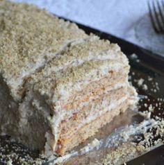 régimódi diótorta Hungarian Desserts, Hungarian Recipes, Cake Recipes, Dessert Recipes, Torte Cake, Walnut Cake, Almond Cakes, Easy Family Meals, Recipe Images