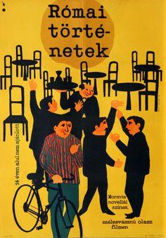 Római történetek - Hungarian vintage movie poster (original title) Racconti romani Socialist Realism, Best Director, Love Posters, Comedy Films, Flat Illustration, Photomontage, Graphic Design Art, Vintage Movies, Gallery