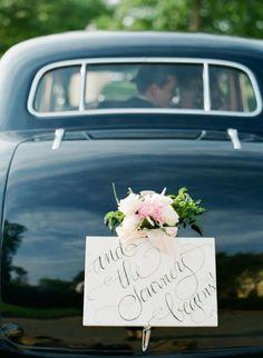 35 Cool And Creative Wedding Getaway Car Decor Ideas