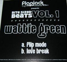 Wattie Green – Bite Sized Beats Vol. 1 (Flapjack) 2010 // House