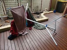 The Hanging Stuff clothes airer is designed to be sturdy and not blow over in the wind.
