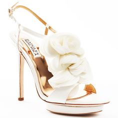 Badgley Mischka Randee - White Satin  (love this heal and pad)