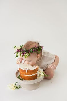 Unique baby photography of your little one in a milk bath, rocking a cake smash,. Unique baby photography of your little one in a milk bath, rocking a cake smash, or just being plai First Birthday Photography, 1st Birthday Photos, Baby 1st Birthday, Baby Cake Smash, Birthday Cake Smash, Cake Smash Photography, Milk Photography, Urban Photography, White Photography