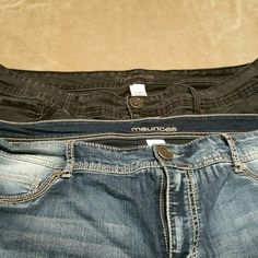 Maurices Skinny jeans One black pair, slightly used Maurices Jeans Skinny