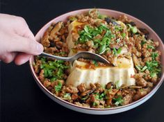 Silken Tofu With Spicy Sausage
