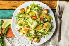 What's not to like about a salad that's equal parts bread and veggies? This panzanella gets its gusto from thinly shaved zucchini, fresh mozzarella, and a juicy, sweet nectarine. Unlike most salads, this one is even better if made a few hours in advance. Just toss the arugula and mint in right before serving.