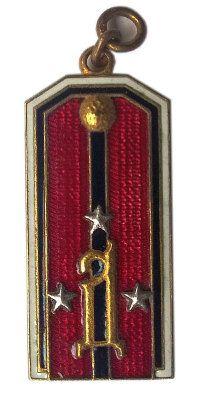 Жетон-погон поручика 2-го стрелкового ген. Дроздовского полка