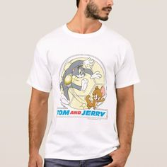 Shop Tom and Jerry Soccer (Football) 8 T-Shirt created by tomandjerry. Tom And Jerry, Fitness Models, Toms, Shirt Designs, Soccer, Football, Couple, Tattoo, Casual