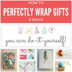 6 original ways to wrap gifts