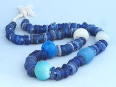 """Antique """"Dutch donut"""" and """"Dutch Dogon"""" glass trade beads strand. African Trade by faqrun on Etsy"""
