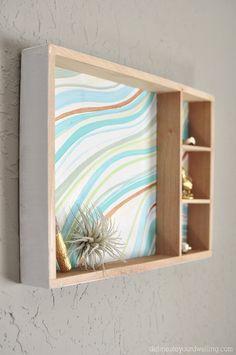 Hometalk :: Create an Easy Marbled Wall Decor From a Wooden Toy Box