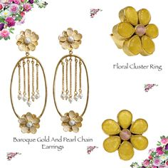 Wear flowers this #monsoon! Shop jewellery at http://www.labelmansion.com/jewellery.html #labelmansion #jewellery #earrings #ring #shoponline #india