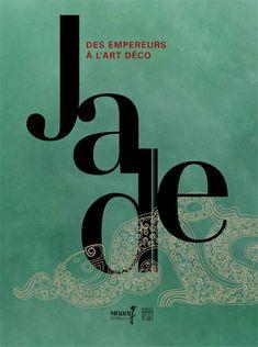graphisme français : affiche d'exposition, musée Guimet, jade, dragon, vert pâle, turquoise pâle