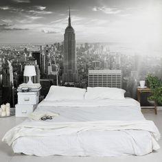 Fototapete New York - Manhattan Skyline - Vliestapete Breit - Manhattan Skyline, Manhattan New York, New York Skyline, Bedroom Murals, Wall Murals, Photo Wallpaper, Cool Wallpaper, Cool Toilets, Graffiti Wallpaper