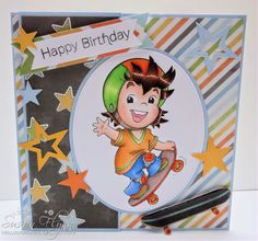 Boy's birthday card by Craftin Suzie using Paper Shelter image