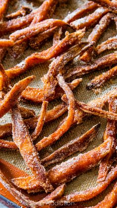 Cinnamon Sugar Sweet Potato Fries. I eat these like dessert, they're amazing.