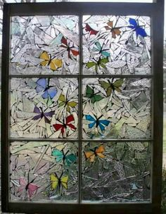 Mosaic butterflies-hip and humble home