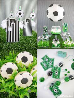 Idées et Inspiration Pour Une Football Party avec des idées de décorations DIY, printables, gourmandises et sweet table en fête!