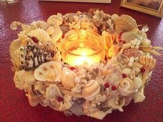 www.etsy.com/shop/SouthernCharmSeaside  Stop by and visit us. We are always open ;   ) Seashell Centerpieces, Sea Shells, Tea Lights, Candles, Shop, Beautiful, Etsy, Seashells, Tea Light Candles