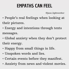 Empath Traits, Intuitive Empath, Empath Abilities, Unspoken Words, Infj Personality, Healer, In This World, Wise Words, Life Quotes