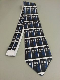 TARDIS inspired tie - ready to ship. $30.00, via Etsy.