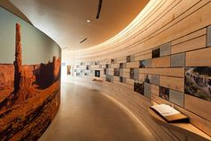 Natural History Museum of Utah - large wall graphic and curved walls