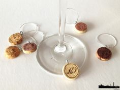 DIY Wine Cork Wine Glass Charms. Super Easy and Cute!