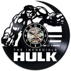The Incredible Hulk Vinyl Record Wall Clock. Get yours while stocks last! #TitanDesignTech #FreeShipping