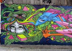 The wall is a paltform for street art artist to express their imagination!