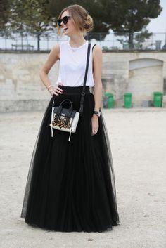 Basic tank, elegant ball gown and leopard print mini phillip lim bag