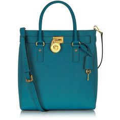 Michael Kors Hamilton Saffiano Leather Tote ($348) ❤ liked on Polyvore