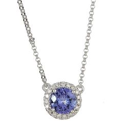 Anika and August 14k White Gold Round-cut Tanzanite 1/6ct TDW Diamond... ($539) ❤ liked on Polyvore featuring jewelry, necklaces, blue, round pendant necklace, long necklace, diamond pendant necklace, white gold diamond necklace and white gold necklace Tanzanite Pendant, Diamond Pendant Necklace, Gold Necklace, Jewelry Necklaces, Round Pendant, White Gold Diamonds, Shoe Bag, Accessories, Women