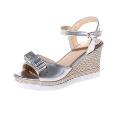 VogueZone009 Women's Patent Leather Buckle Open Toe High-Heels Solid Wedges-Sandals >>> Want to know more, click on the image.