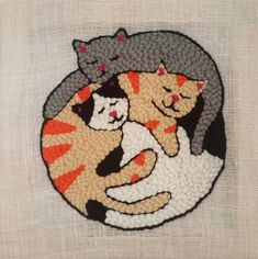 Cat Rug, Cross Stitching, Cross Stitch Embroidery, Embroidery Patterns, Punch Needle Patterns, Rug Hooking Patterns, Lana, Handmade Gifts For Friends, Rug Inspiration