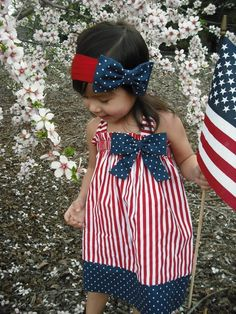 Halter Patriotic 4th of July Girl Dress by AllissonsCreations {no longer available}