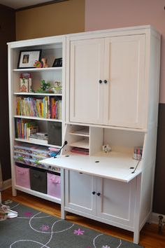 Hemnes secretary and bookcase in kid's room | Nadia's Room traditional-kids