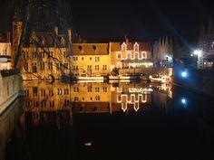 Brugge at night!