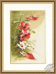 Field Poppies - Cross Stitch Kits by ZOLOTOE RUNO - BR-013