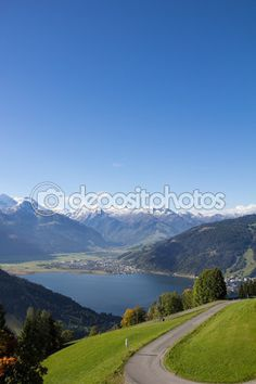 View From Mitterberg To Zell Am See Lake Zell & Kitzsteinhorn Zell Am See, My Images, Sunny Days, Photo S, Hiking, Stock Photos, Vacation, Holidays, Salzburg