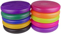 Wiggle cushions. I even like sitting on them. They function like one of those big balls that kids can sit on- but much more manageable. (Don't they look cooler when there's 10 colors??? I have used these for 2 years in my classroom. Ask me!!)