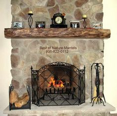 Old Design With Stone Fireplace Mantels