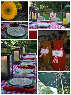 This would be super cute for a rehearsal dinner :)
