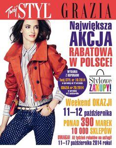 W najbliższy weekend 11-12 października akcja rabatowa  TWÓJ STYL i GRAZIA  W salonie SWISS rabat 15%   ZAPRASZAMY