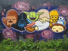 When graffiti meets Star Wars, the whole street is turned into a massive showroom of crazy fandom and impressive artistry. In honor of May the Fourth, check out 32 photos of Star Wars graffiti from every corner of the world. Star Wars Love, Star Wars Day, Graffiti Art, Cartoon Graffiti, Street Graffiti, Giant Star, Urbane Kunst, Darth Vader, Love Stars