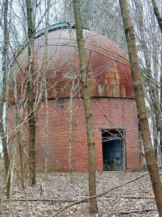Abandoned Indiana University observatory at Knightridge, near Bloomington, built in 1936