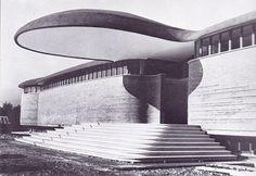 Collegio per le Missioni Estere San Francesco Saverio, Val Canuta, Roma, Luigi Moretti, 1960