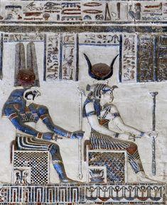 Egypt: Temple of Dendera - Paul Smit   Mick Palarczyk (Hathor and Montu in Dendera.)