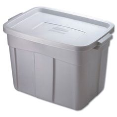 Rubbermaid 18 Gallon Roughneck Storage Box in Steel Gray & Reviews | Wayfair