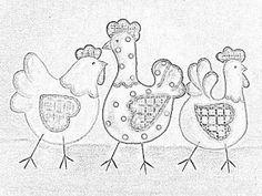 JUANITA PATCHWORK: Gallinas, y mas gallinas