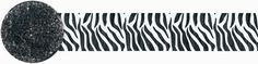 Zebra Striped Crepe Paper Streamer - 81'